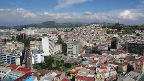 Quito główny kapitał Ecuador podczas dnia czasu od wysokiego widoku zbiory
