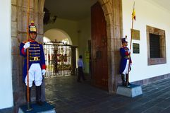 Quito Guards Royalty Free Stock Photos