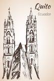 Quito hand drawn sketch. Ecuador. Royalty Free Stock Photography