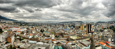 Quito HDR panoramic view. Royalty Free Stock Image