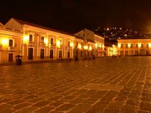 Quito historical plaza Royalty Free Stock Photos