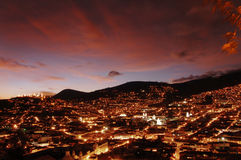 Quito-Landschaft lizenzfreies stockfoto