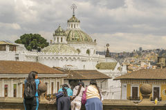 Quito Metropolitan Cathedral From San Francisco Church Viewpoint Royalty Free Stock Photography