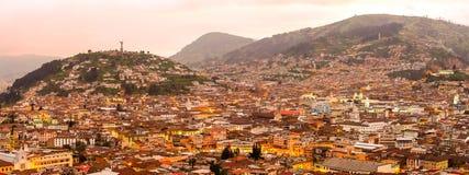 Quito Night Panorama Stock Image