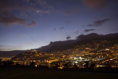 Quito at night Royalty Free Stock Image