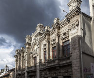 Quito - old town - colonial architecture, old building military Royalty Free Stock Photos