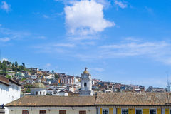 Quito old town historic center view, Ecuador. Stock Image