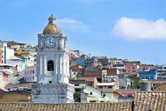 Quito old town historic center view, Ecuador. Stock Image
