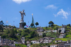 Quito old town historic center view, Ecuador. Royalty Free Stock Photo