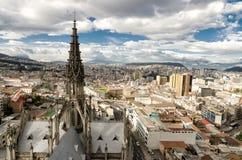 Quito. Oldtown of Quito, capital of Ecuador stock photo