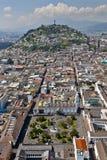 Quito, Panecillo e plaza grandi Fotografia Stock Libera da Diritti