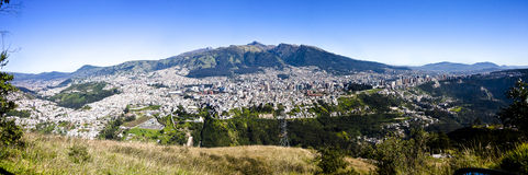 Quito panorama, Ecuador Royalty Free Stock Photos