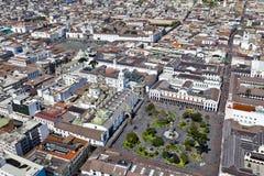 Quito, plaza grande e San Francisco Fotografie Stock Libere da Diritti