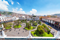 Quito Plaza Grande Royalty Free Stock Photos