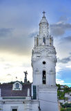 Quito`s Cathedral Steeple Royalty Free Stock Photos