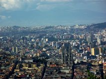 Quito sikt från El Panecillo Royaltyfria Bilder