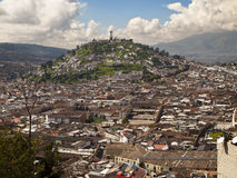 Quito-Veranschaulichung von EL Panecillo Stockfoto