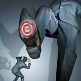 Quittant d'un pas lourd la concurrence Images libres de droits