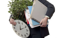 Quitter le travail Photo stock