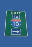 Quittez au signe 10 d'un état à un autre Image stock