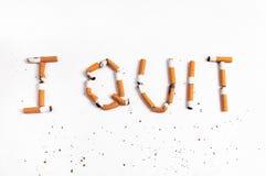 Quittez l'image contre le tabac rendue par Smoking Image stock