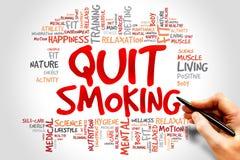 Quittez l'image contre le tabac rendue par Smoking Photographie stock
