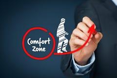 Quittez la zone de confort image libre de droits