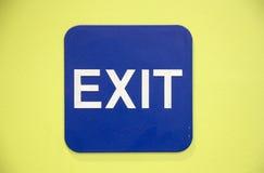 Quittez le signe Image stock