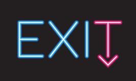 Quittez le signe au néon Image libre de droits
