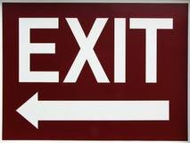 Quittez le signe avec la flèche gauche Photo libre de droits