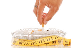 Quitting and Gaining Weight Royalty Free Stock Images