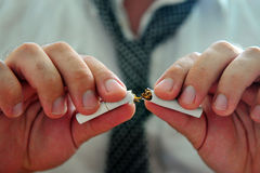 Quitting smoking Stock Image