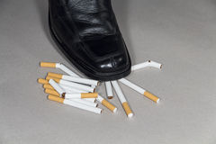 Quitting smoking Royalty Free Stock Image