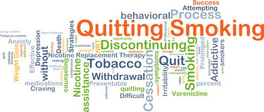 Quitting smoking background concept Stock Images