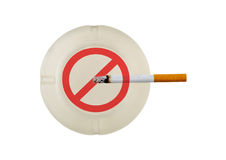 Quitting Smoking,. Quitting the bad habit of smoking cigarettes royalty free stock photos