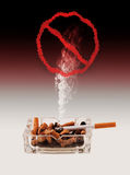 Quitting Smoking,. Quitting the bad habit of smoking cigarettes stock images