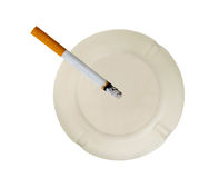 Quitting Smoking,. Quitting the bad habit of smoking cigarettes royalty free stock photo