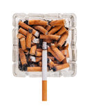 Quitting Smoking,. Quitting the bad habit of smoking cigarettes royalty free stock photography