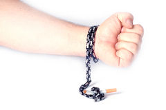 Quitting smoking is difficult Stock Image