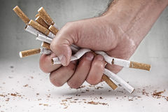 Quitting smoking Royalty Free Stock Photography