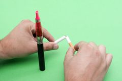 Quitting smoking Stock Photos