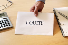 Quitting your job Royalty Free Stock Photo