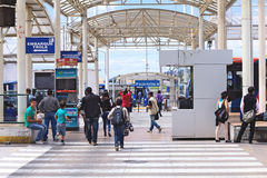 Quitumbe Bus Terminal in Quito, Ecuador Royalty Free Stock Photography