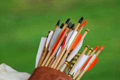 Quiver of arrows Royalty Free Stock Image