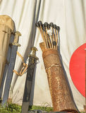 A quiver of arrows and swords Royalty Free Stock Image