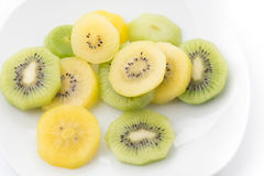 Quivi e fruto de quivi dourado imagens de stock royalty free