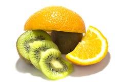Quivi e laranja Foto de Stock