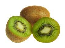 Quivi - fruto no fundo branco Fotos de Stock Royalty Free