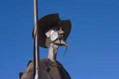 Quixote in metal. A statue of Don Quixote of La Mancha, in the state of Albacete, Spain Stock Photo