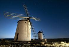 Quixote windmills. Don Quixote wndmill in castilla, Spain, is a touristic visit very famous in Spain Royalty Free Stock Photos